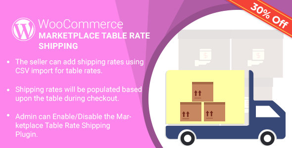 Marketplace Table Rate Shipping Plugin for WooCommerce
