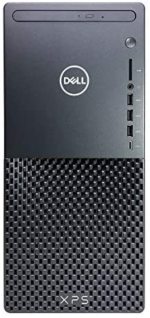 Dell_XPS 8940 Tower Desktop Computer - 10th Gen Intel Core i7-10700 8-Core up to 4.80 GHz CPU, 64GB DDR4 RAM, 1TB SSD + 3TB Hard Drive, GeForce GTX 1650 Graphics, DVD Burner, Windows 10 Home, Black
