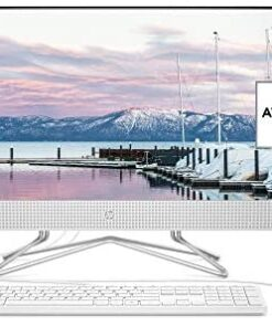 HP 24-inch All-in-One Desktop Computer, AMD Athlon Silver 3050U Processor, 8 GB RAM, 256 GB SSD, Windows 10 Home (24-dd0010, White)