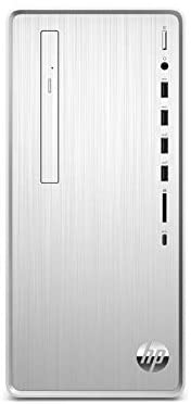 HP Pavilion Desktop Computer, Intel Core i5-9400, 12GB RAM, 1TB Hard Drive, 256 GB SSD, Windows 10 (TP01-0050, Silver), Natural Silver