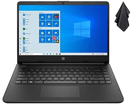 2021 Newest HP 14 inch HD Laptop for Business or Student, AMD Athlon Silver 3050U (Beat i5-7200U), 8GB DDR4 RAM, 256GB SSD, 720P Webcam, 802.11ac WiFi, Bluetooth, Windows 10 + Oydisen Cloth