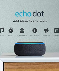 Amazon Echo Dot (3rd Gen) - Smart speaker with Alexa, Charcoal (Used)