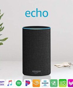 Certified Refurbished Echo (2nd Generation) - Smart speaker with Alexa - Charcoal Fabric
