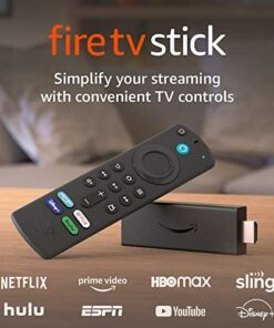 Fire TV Stick (3rd Gen) with Alexa Voice Remote (includes TV controls) | HD streaming device | 2021 release