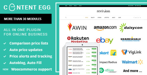 Content Egg - all in one plugin for Affiliate, Price Comparison, Deal sites