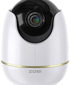 ZOSI C512 1080P WiFi Camera for Home Security, Indoor Baby Monitor with 2 Way Audio, Motion Detection, Pan/Tilt IP Cam for Pet Dog Cat Compatible with Alexa, TF Card Storage, Remote APP