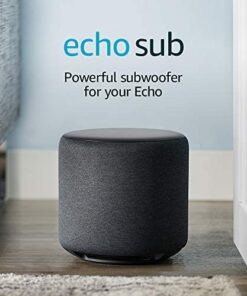 Echo Sub - Powerful subwoofer for your Echo - requires compatible Echo device