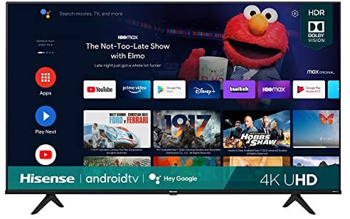Hisense 50A6G 50-Inch 4K Ultra HD Android Smart TV with Alexa Compatibility (2021 Model)