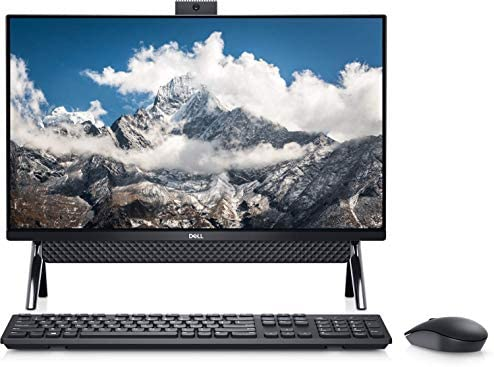 """2021 Newest Dell Inspiron 5000 All in One Desktop 24"""" FHD Display, Intel Pentium Gold Processor 7505, 8GB DDR4 RAM, 256GB PCIe NVMe SSD, WiFi, Webcam, Wired Mouse&Keyboard, Win10 (Latest Model)"""