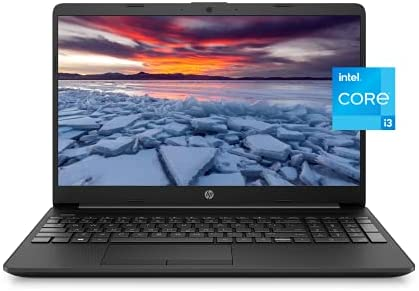 """2021 Newest HP 15"""" HD Micro-Edge Lightweight Laptop, 11th Gen Intel i3-1115(Up to 4.1GHz, Beat i5-1030G7), 8GB RAM, 256GB NVMe SSD, Ethernet, WiFi, Webcam, HDMI, Fast Charge,w/Ghost Manta Accessories"""
