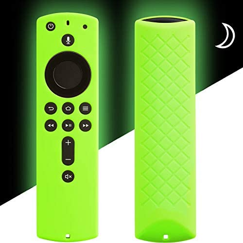 Cover for Fire Stick Remote Glow in The Dark, Firestick Cover Compatible with 2nd Generation 4K Amazon Fire Stick Alexa Remote, Firestickremote TV Remote Case Glow Green