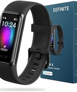 EEFINITE Fitness Tracker with Alexa Built-in, 5ATM Waterproof Activity Tacker with Blood Oxygen Heart Rate Monitor, Sleep & Swim Tracking, Smart Fitness Band Step Calorie Counter for Women Men