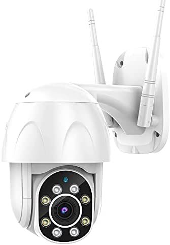 Outdoor Security Camera, Canshuo PTZ Wireless Security Camera 4X Zoom, 360° 1080P View with IP66 Weatherproof Motion Detection Night Vision 2-Way Audio Cloud Camera Works with Alexa and Google Home