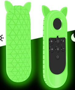 Remote Case Cover Holder for Facebook Portal TV Remote,Silicone Protective Case for Facebook Portal TV Smart Video Calling on Your TV with Alexa,Shockproof Remote Battery Back Covers-Glowgreen