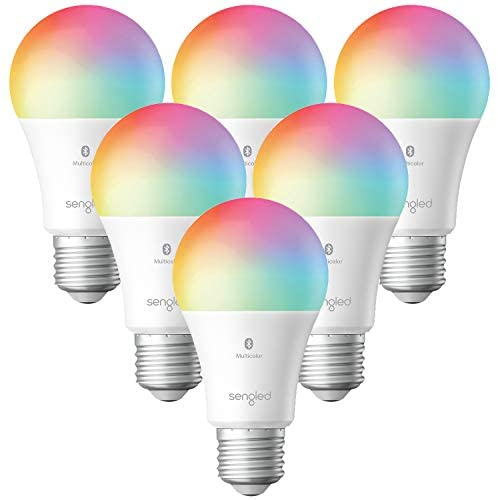 Sengled Smart Light Bulbs, Color Changing Alexa Light Bulb Bluetooth Mesh, Smart Bulbs That Work with Alexa Only, Dimmable LED Bulb A19 E26 Multicolor, High CRI, High Brightness, 9W 800LM, 6 Pack