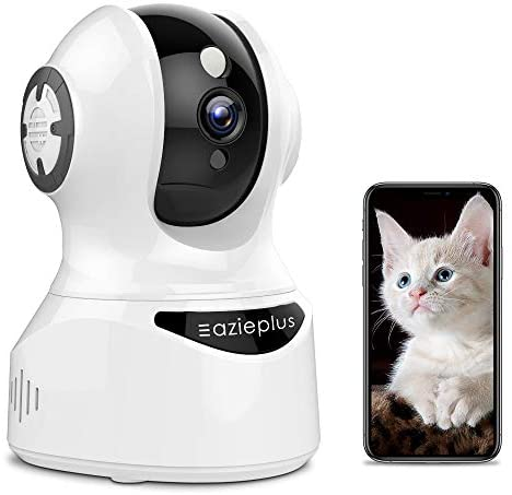 Wireless Security Camera Indoor,1080P IP Camera,Eazieplus WiFi Home Security Camera for Baby/Elder/Pet/Nanny,Motion Tracking,Motion Detection,Sound Alerts,2 Way Audio,Night Vision,Works with Alexa