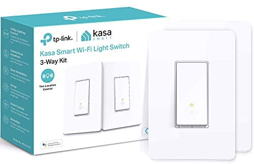 Kasa Smart 3 Way Switch HS210 KIT, Needs Neutral Wire, 2.4GHz Wi-Fi Light Switch works with Alexa and Google Home, UL Certified, No Hub Required, 2-Pack