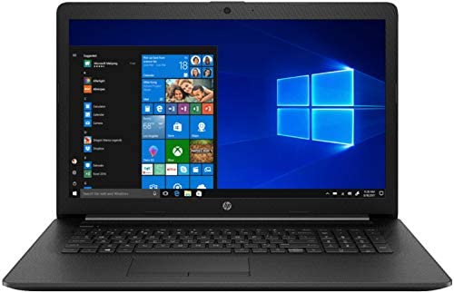 """Newest HP 17.3"""" Laptop Intel i3 1005G1 8GB 1TB HDD Jet Black Windows 10 Home in S Mode with GS HDMI Cable"""