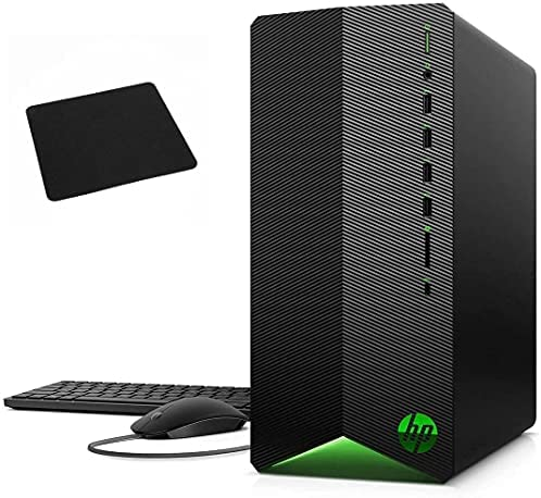 Newest_HP Pavilion Gaming Premium Desktop Computer I i3-10100 (> i5-8600T) I 16GB DDR4 256GB SSD I GeForce GTX 1650 Super I WiFi5 Win10 Black, Mouse and Keyboard + Mouse Pad (16GB DDR4 I 256GB SSD)