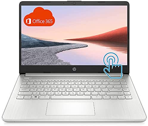 """HP Premium Laptop (2021 Latest Model), 14"""" HD Touchscreen, AMD Athlon Processor, 8GB RAM, 192GB SSD, Long Battery Life, Online Conferencing, Natural Silver, Win 10 with 1 Year of Microsoft 365"""