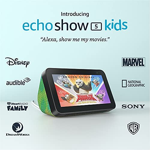 All-new Echo Show 5 (2nd Gen) Kids   Designed for kids, with parental controls   Chameleon